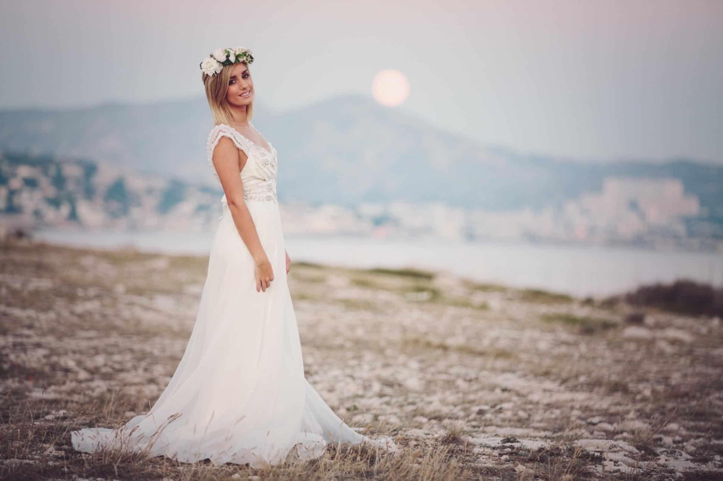 Marseille France Wedding Photographer Anna Campbell Design Mint + melon Flower crown www.benandhopeweddings.com.au