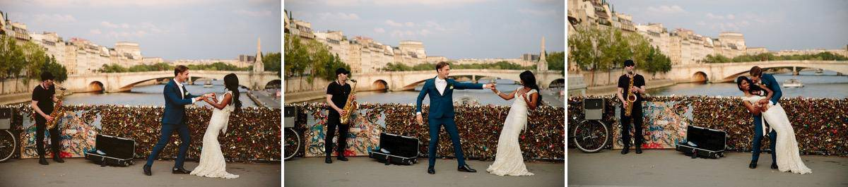 Paris Love Locks bridge Destination wedding photographer www.benandhopeweddings.com.au