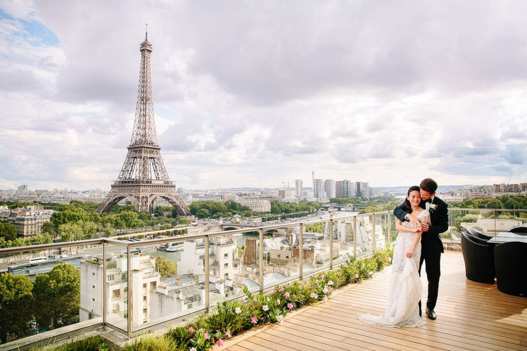 paris wedding photographer shangri la paris france