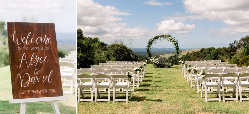 Maleny Manor Wedding photographer sunshine coast venue outdoor ceremony aisle