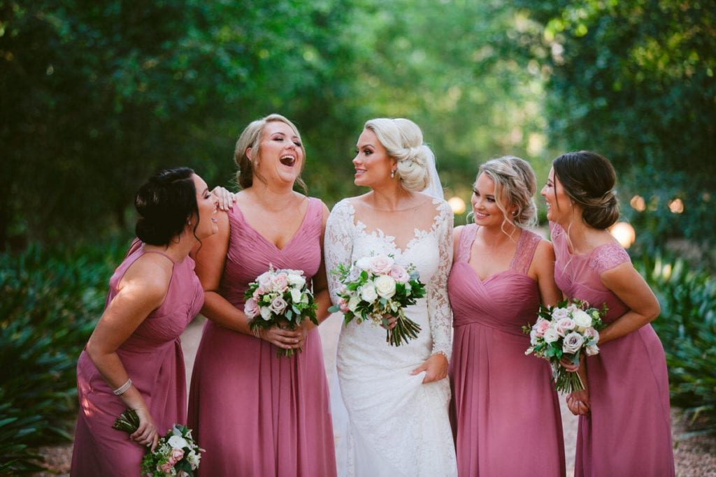 Gabbinbar Homestead wedding photographer toowoomba bridesmaids pink country wedding