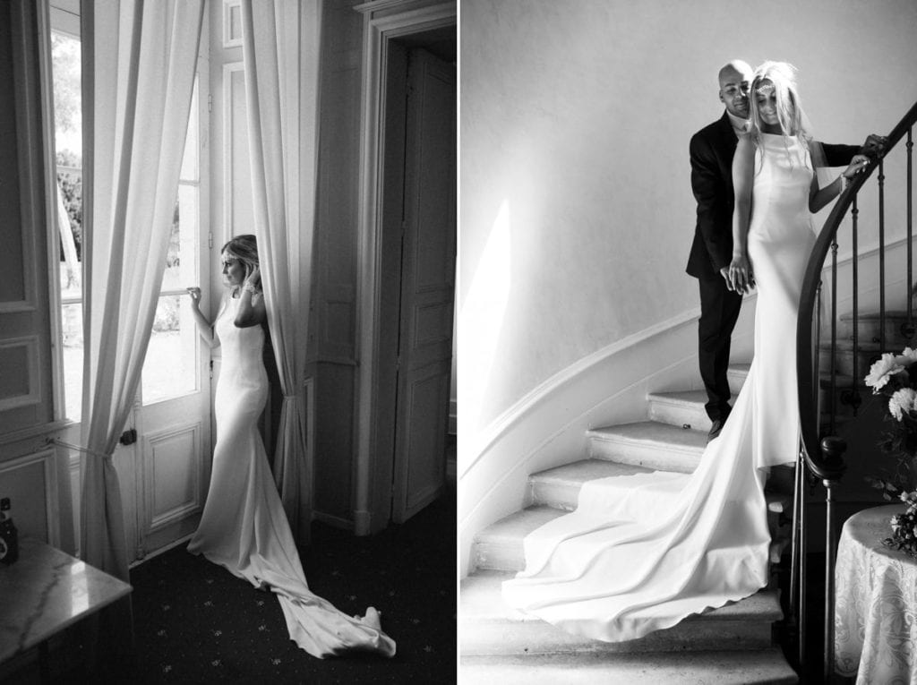 Bordeaux France wedding photographer Chateau Clerbise venue bridal portraits