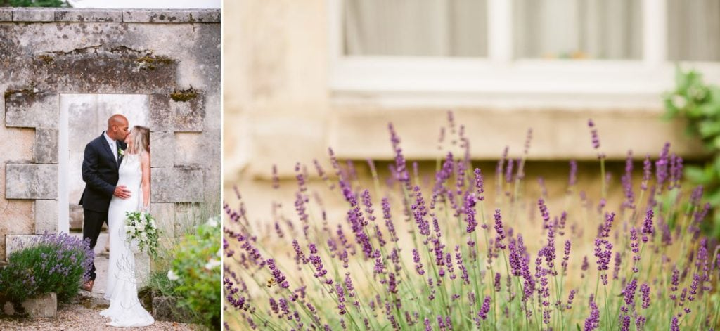 Bordeaux France wedding photographer Chateau Clerbise venue bridal portraits lavendar