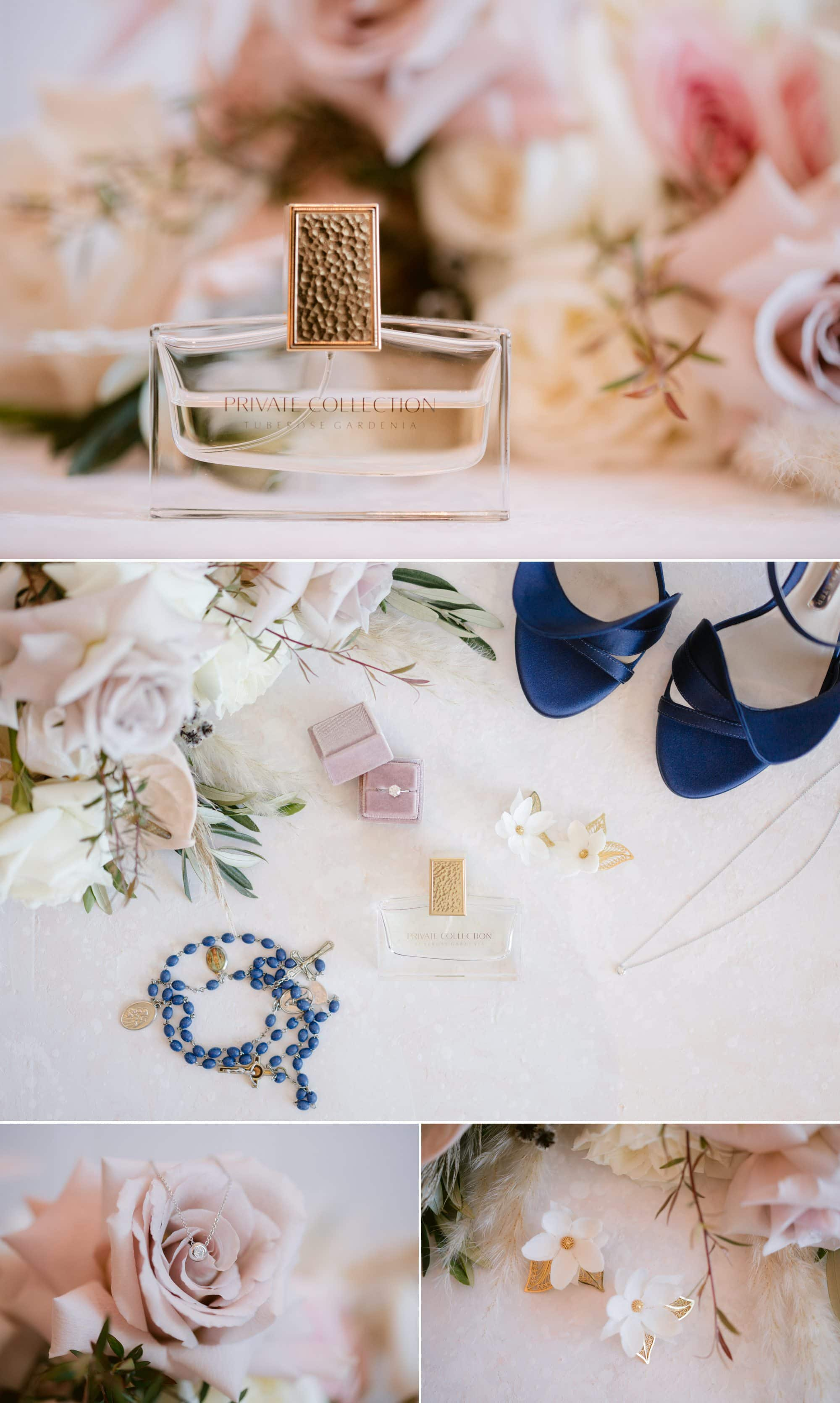 Victoria Park wedding photographer prep details shoes jewellery bouquet