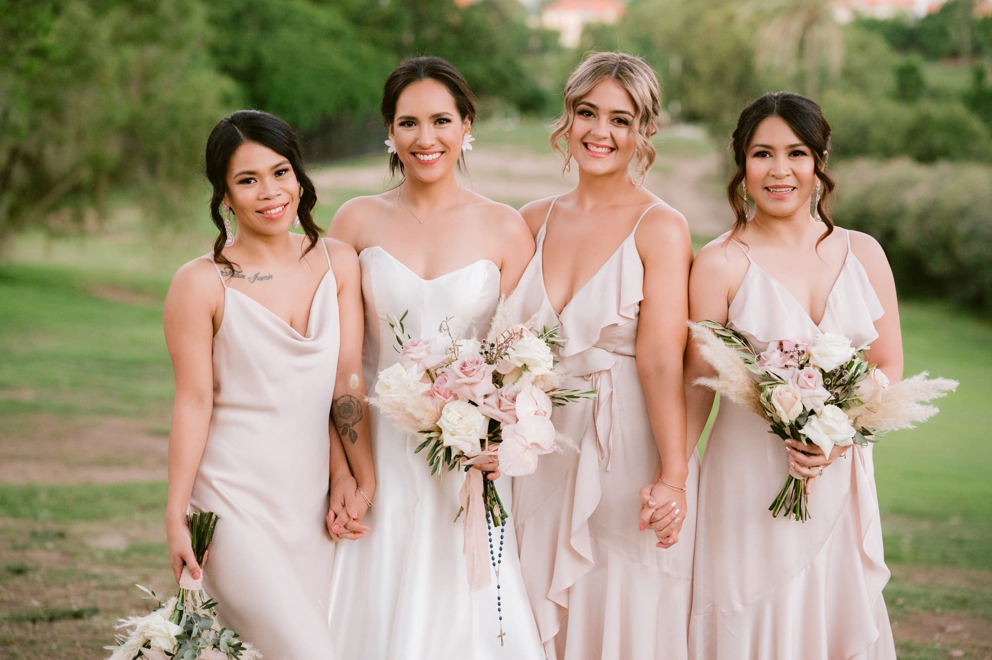 Victoria Park wedding photographer bridesmaids portraits golf course
