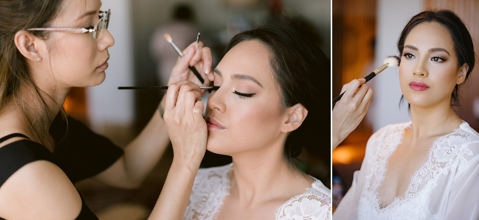 Victoria Park wedding photographer makeup prep