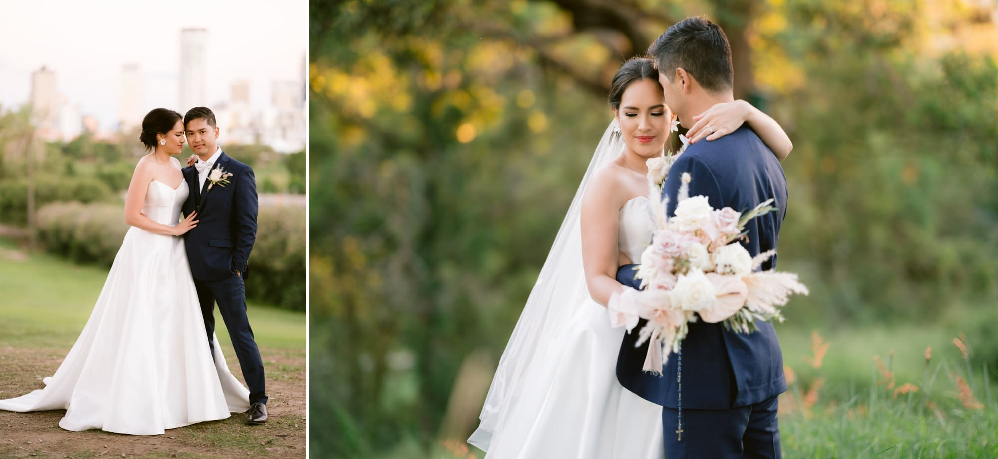 Victoria Park wedding photographer bride portraits groom golf course