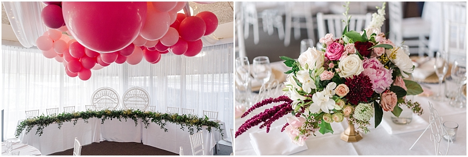 Pink and White Wedding Photos at The Village at Parkwood Wedding Venue - Tegan and Dylan