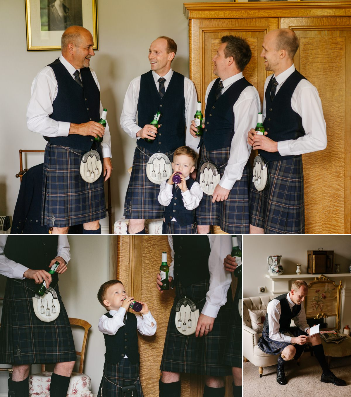 Scotland wedding groom in kilt Errol Park Estate www.benandhopeweddings.com.au
